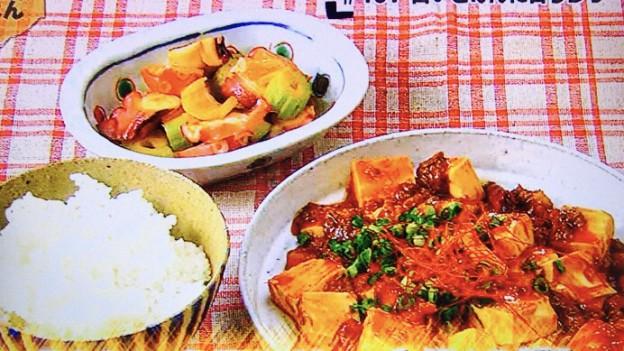 男子ごはん!白いご飯に合う海鮮麻婆豆腐&タコとセロリのネギ油かけ
