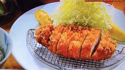 ポンチ軒「上ロース豚かつ定食」