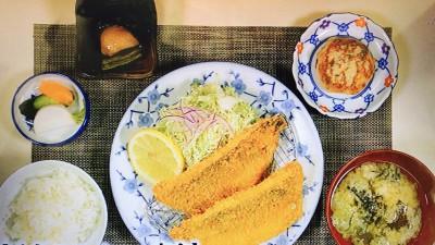 はまべ「地魚フライ(アジ)定食」