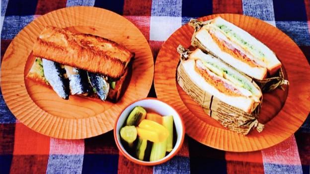 男子ごはん流!サンドイッチ2品&ピクルス