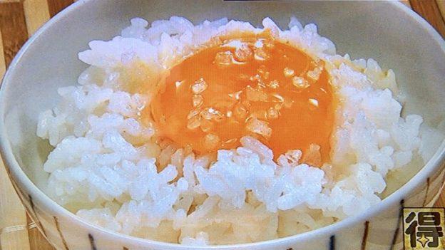 塩とごま油の卵かけご飯