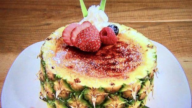 トミーバハマ「パイナップルのクリームブリュレ」