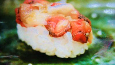 大将寿司「赤西貝のにぎり」