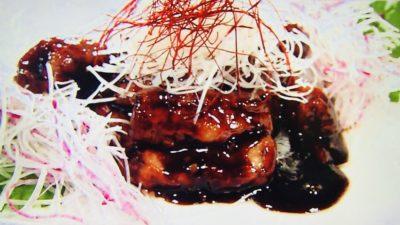 豊栄「黒酢の酢豚」
