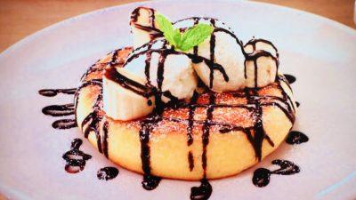 ガスト「チョコバナナとマスカルポーネのパンケーキ」