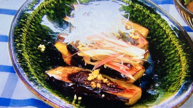炒めナスの味噌田楽