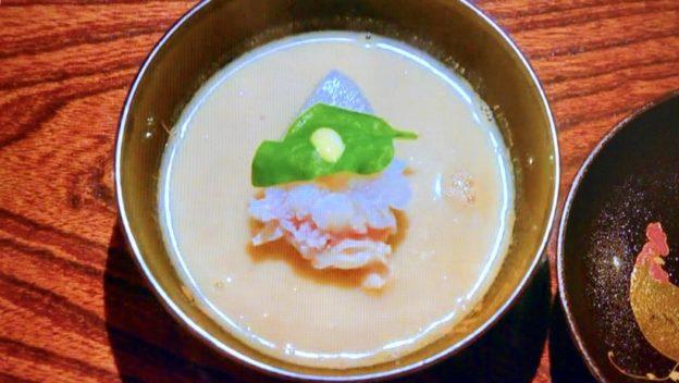 天ぷら 松「伊勢海老の白味噌仕立て」