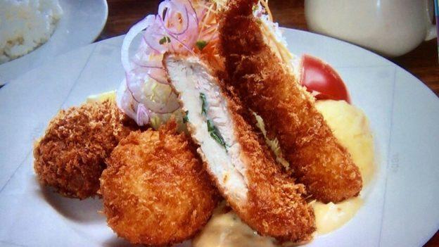 レストランサカキ「ミックスフライ定食」