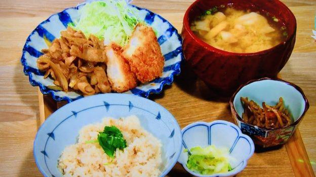東京コトブキ「鯛めし食べ放題ランチ 生姜焼き&海老カツ」