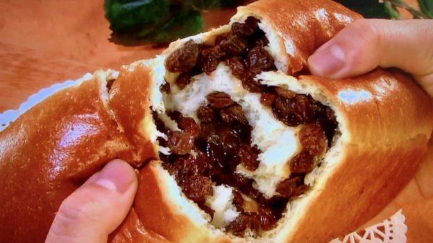 舞い鶴「ぶどうパン」