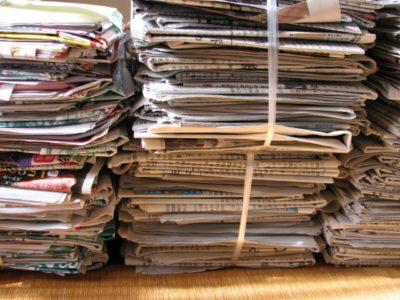 新聞紙の結び方